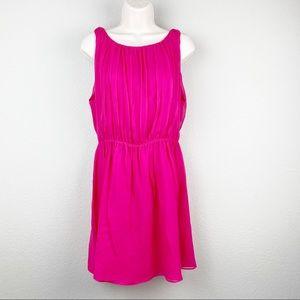 Alice & Olivia Fuschia Hot Pink Silk Grecian Dress